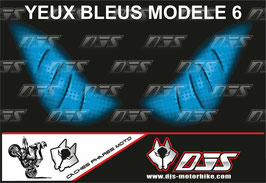 1 jeu de caches phares DJS pour Yamaha r6 de 2003-2005  microperforés qui laissent passer la lumière - référence : Yamaha r6 de 2003-2005 -yeux modèle 6-