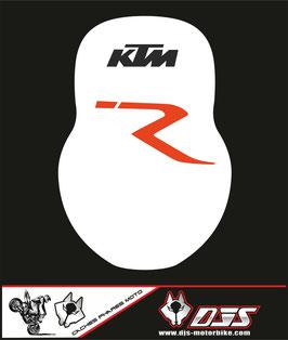 1 cache phare DJS pour KTM 990 super duke microperforé qui laisse passer la lumière - référence : ktm superduke 990-002-