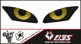 1 jeu de caches phares DJS pourYamaha r6 2006-2016 microperforés qui laissent passer la lumière - référence : Yamaha r6 2006-2016-yeux modèle 11-
