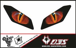 1 jeu de caches phares DJS pourYamaha MT09 2017-2020 microperforés qui laissent passer la lumière - référence : Yamaha MT09 2017-2020-yeux modèle 16-