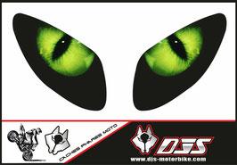 1 jeu de caches phares DJS pour Yamaha T MAX  2001-2008 microperforés qui laissent passer la lumière - référence : T MAX  2001-2008-yeux modèle 2-