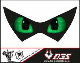 1 cache phare DJS pour Kawasaki z 800 microperforé qui laisse passer la lumière - référence : Z800-yeux modèle 15-