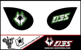 1 jeu de caches phares DJS pour Kawasaki zx6r microperforés qui laissent passer la lumière - référence : zx6-r-2007-2008-007
