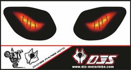 1 jeu de caches phares DJS pour SUZUKI SVS 1999-2002 microperforés qui laissent passer la lumière - référence :SUZUKI-SVS-1999-2002-007-
