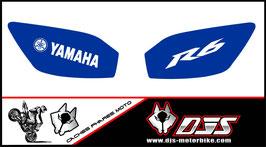 1 jeu de caches phares DJS pour YAMAHA r6 1999-2002 microperforés qui laissent passer la lumière - référence : r6-1999-2002-016