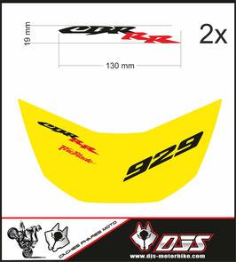 1 cache phare DJS pour Honda CBR 929 microperforé qui laisse passer la lumière + 2 adhesif CBR - référence : CBR 929-2000-2002-003-