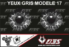 1 jeu de caches phares DJS pour TRIUMPH speed triple-2011-2015 microperforés qui laissent passer la lumière - référence : yeux modèle 17-