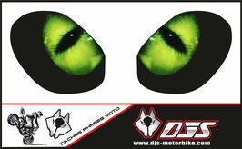 1 jeu de caches phares DJS pour triumph street triple-2011-2016 microperforés qui laissent passer la lumière - référence : triumph street triple-2011-2016-yeux modèle 1-