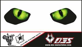 1 jeu de caches phares DJS pour YAMAHA R6 2017-2021 microperforés qui laissent passer la lumière - référence : YAMAHA R6 2017-2021-yeux modèle 1-