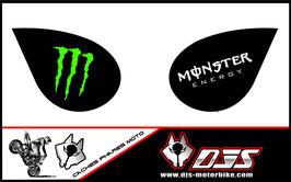 1 jeu de caches phares DJS pour Kawasaki zx6r microperforés qui laissent passer la lumière - référence : zx6-r-2007-2008-003