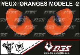 1 jeu de caches phares DJS pour KTM DUKE 890 2020-2021 microperforés qui laissent passer la lumière - référence : yeux modèle 2-