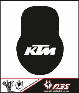 1 cache phare DJS pour KTM 990 super duke microperforé qui laisse passer la lumière - référence : ktm superduke 990-006-
