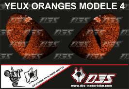 1 jeu de caches phares DJS pour  KTM SUPERDUKE 1290 2017-2021 microperforés qui laissent passer la lumière - référence : yeux modèle 4-