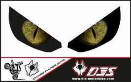 1 jeu de caches phares DJS pour Kawasaki Z1000 2015-2017 microperforés qui laissent passer la lumière - référence : z1000-2015-2017-yeux modèle 4-