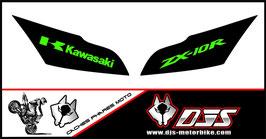 1 jeu de caches phares DJS pour Kawasaki ZX10R 2011-2015 microperforés qui laissent passer la lumière - référence : zx10r-2011-2015-004