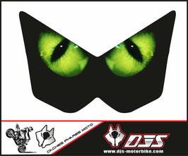 1 jeu de caches phares DJS pour Kawasaki Z1000 2003-2009 microperforés qui laissent passer la lumière - référence : Z1000-2003-2009-yeux 1 verts-