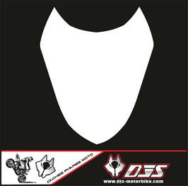 1 cache phare DJS pour Suzuki gsx r 1000 2003-2004 microperforé qui laisse passer la lumière - référence : gsxr 1000-2003-2004-blanc uni-