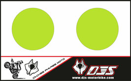 1 jeu de caches phares DJS pour Triumph speed triple microperforés qui laissent passer la lumière - référence : speed triple-2007-2010-COULEUR UNI-