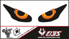 1 jeu de caches phares DJS pour Triumph daytona 2009-2012 microperforés qui laissent passer la lumière - référence : yeux modèle 9-