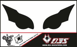 1 jeu de caches phares DJS pour HONDA CBR 1000 RR  microperforés qui laissent passer la lumière - référence : CBR 1000-2008-2011-noir uni-