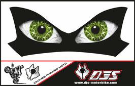 1 cache phare DJS pour Kawasaki Z900-2015-2020microperforé qui laisse passer la lumière - référence : Z900-2015-2020-yeux modèle 18-