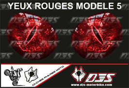 1 jeu de caches phares DJS pour Triumph daytona 2006-2008 microperforés qui laissent passer la lumière - référence : yeux modèle 5-