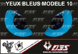 1 cache phare DJS pour SUZUKI  GSX-R 1000 2003-2004 microperforé qui laisse passer la lumière - référence : yeux modèle 10-