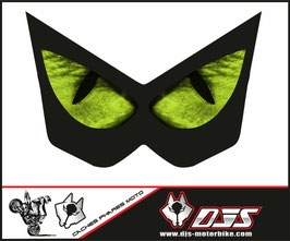 1 jeu de caches phares DJS pour Kawasaki Z1000 2003-2009 microperforés qui laissent passer la lumière - référence : Z1000-2003-2009-yeux 3 verts-
