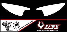 1 jeu de  caches phares DJS pour Yamaha r6 de 2003-2005  microperforés qui laissent passer la lumière - référence : r6-2003-2005-blanc uni-