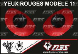 1 jeu de caches phares DJS pour Aprilia RSV4 2009-2013 microperforés qui laissent passer la lumière - référence : yeux modèle 11-