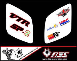 1 jeu de caches phares DJS pour Honda vtr sp1-sp2  microperforés qui laissent passer la lumière - référence : VTR SP1-SP2-015-