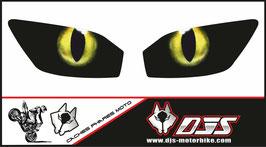 1 jeu de caches phares DJS pour YAMAHA r6 1999-2002 microperforés qui laissent passer la lumière - référence : YAMAHA r6 1999-2002-yeux modèle 12-