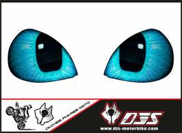 1 jeu de stickers phare DJS pour yamaha r1  a coller sur poly - référence : r1-2009-2014-yeux 015 bleu-