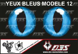 1 jeu de caches phares DJS pour YAMAHA YZF R 125  microperforés qui laissent passer la lumière - référence : YAMAHA YZF R 125 2019-2021-yeux modèle 12-