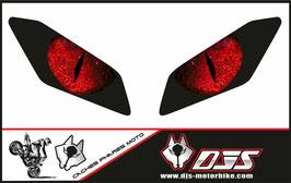 1 jeu de caches phares DJS pour Yamaha MT09 2017-2020 microperforé qui laisse passer la lumière - référence : Yamaha MT09 2017-2020-yeux modèle 4-