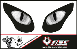 1 jeu de caches phares DJS pour KAWASAKI ZX-10R-2008-2010 microperforés qui laissent passer la lumière - référence : yeux modèle 19-