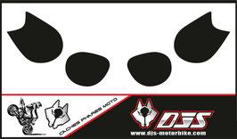 1 cache phare DJS pour Kawasaki ZZR 1400 2008-2012 microperforé qui laisse passer la lumière - référence : ZZR 1400 2008-2012-FOND NOIR-