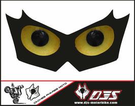 1 cache phare DJS pour KAWASAKI  Z750-2007-2014 microperforé qui laisse passer la lumière - référence : KAWASAKI  Z750-2007-2014-yeux modèle 11-