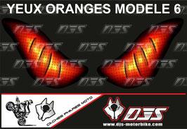 1 jeu de caches phares DJS pour  Honda CBR 600 RR 2008-2012 microperforés qui laissent passer la lumière - référence : yeux modèle 6-