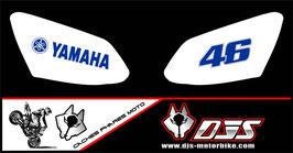 1 jeu de caches phares DJS pour YAMAHA R1 2007-2008 microperforé qui laissent passer la lumière - référence : r1-2007-2008-008-