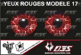 1 jeu de caches phares DJS pour  Honda CBR 600 RR 2008-2012 microperforés qui laissent passer la lumière - référence : yeux modèle 17-