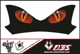 1 cache phare DJS pour Kawasaki Z900-2015-2020 microperforé qui laisse passer la lumière - référence : Z900-2015-2020-yeux modèle 16-