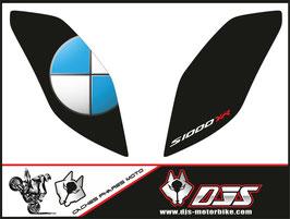 1 jeu de caches phares DJS pour BMW S1000XR 2015-2019 microperforés qui laissent passer la lumière - référence : S1000XR-2015-2019-002-