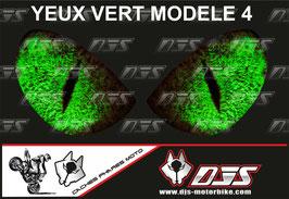 1 jeu de caches phares DJS pour  KAWASAKI  ZX6R-2003-2004  microperforés qui laissent passer la lumière - référence : yeux modèle 4-