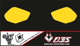 1 jeu de caches phares DJS pour YAMAHA R1 microperforés qui laissent passer la lumière - référence : r1-21015-2017-jaune uni-
