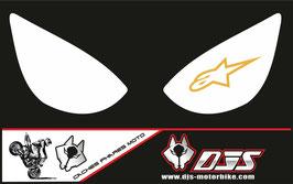 1 jeu de caches phares DJS pour Kawasaki zx6r microperforé qui laissent passer la lumière - référence : zx6r-2005-2006-011-