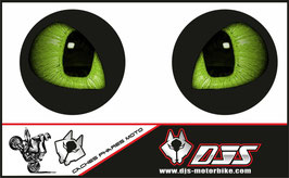 1 jeu de caches phares DJS pour TRIUMPH speed triple-2007-2010 microperforés qui laissent passer la lumière - référence : yeux modèle 15-