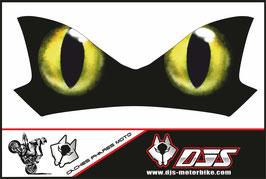 1 cache phare DJS pour Kawasaki Z900-2015-2020 microperforé qui laisse passer la lumière - référence : Z900-2015-2020-yeux modèle 12-