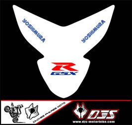 1 kit  cache phare DJS pour suzuki gsxr 600-750 k4-k5 microperforé qui laisse passer la lumière - référence : gsxr-600-750-2004-2005-012-