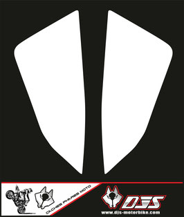 1 jeu de caches phares DJS pour KTM SUPERDUKE R ET RR 1290 2020-2021 microperforés qui laissent passer la lumière - référence : superduke 1290 R 2020-2021-noir-